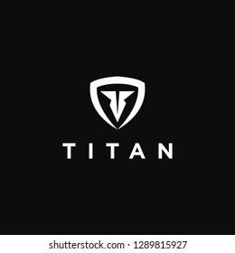 Titan Helmet. Abstract Logo Concept