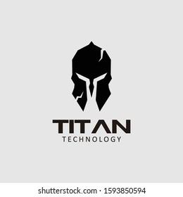 Titan logo design stock vector