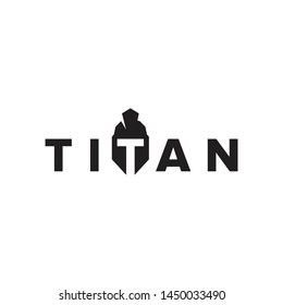 titan or spartan logotype with strong character