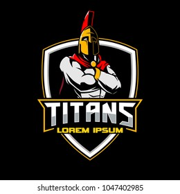 titan or spartan warrior emblem logo template