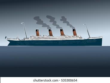 titanic day view, ocean liner