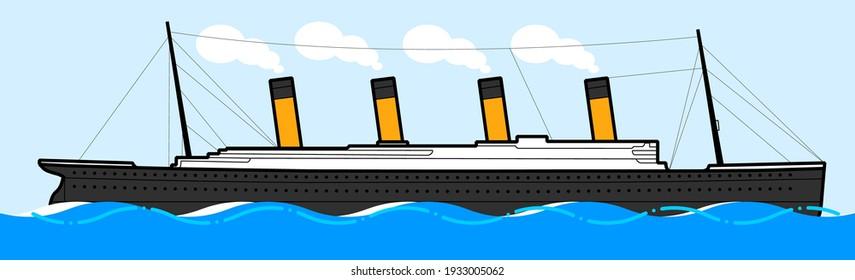 Titanic legendary ship. Vector illustration.