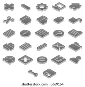 Titanium 3D icons Basic (1 of 2)