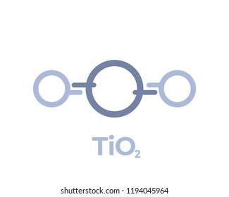 titanium dioxide molecule icon on white