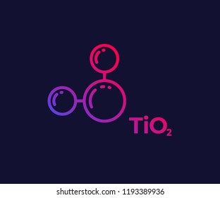 titanium dioxide molecule, linear icon