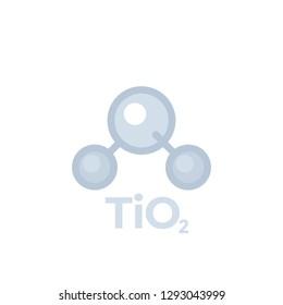 titanium dioxide, TiO2 molecule, icon isolated on white