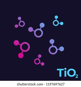 titanium dioxide, TiO2 molecules