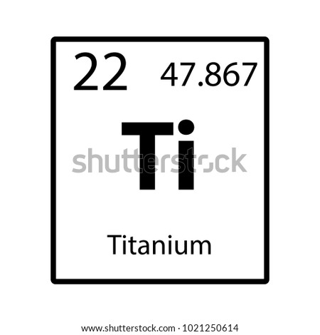 Titanium Periodic Table Element Icon On Stock Vector Royalty Free