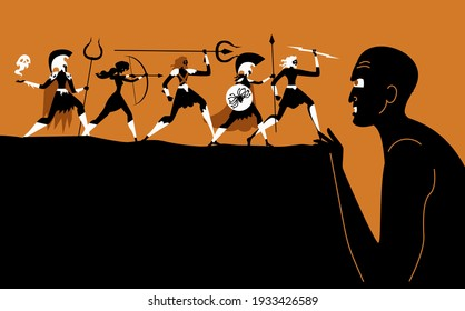 titanomachy war of greek gods versus giant titans
