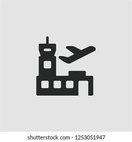 Title: Filled airport super icon. Airport vector illustration for graphic design. Airport symbol.