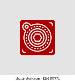 Title: Filled atari super icon. Atari vector illustration for graphic design. Atari symbol.