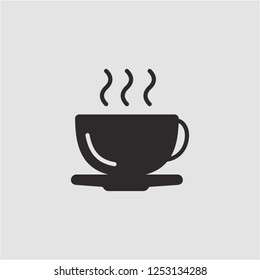 Title: Filled coffee cup super icon. Coffee cup vector illustration for graphic design. Coffee cup symbol.