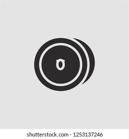 Title: Filled cymbal super icon. Cymbal vector illustration for graphic design. Cymbal symbol.