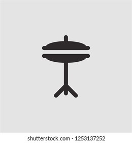 Title: Filled cymbals super icon. Cymbals vector illustration for graphic design. Cymbals symbol.