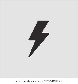 Title: Filled flash super icon. Flash vector illustration for graphic design. Flash symbol.