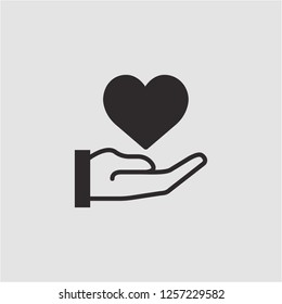 Title: Filled heart super icon. Heart vector illustration for graphic design. Heart symbol.