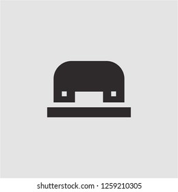 Title: Filled hole puncher super icon. Hole puncher vector illustration for graphic design. Hole puncher symbol.