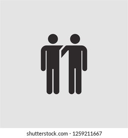 Title: Filled homosexual super icon. Homosexual vector illustration for graphic design. Homosexual symbol.