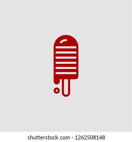 Title: Filled ice lolly super icon. Ice lolly vector illustration for graphic design. Ice lolly symbol.
