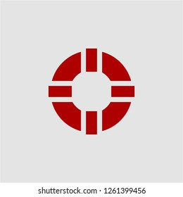 Title: Filled lifebuoy super icon. Lifebuoy vector illustration for graphic design. Lifebuoy symbol.