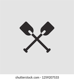 Title: Filled oars super icon. Oars vector illustration for graphic design. Oars symbol.