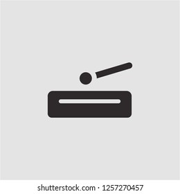 Title: Filled percussion super icon. Percussion vector illustration for graphic design. Percussion symbol.