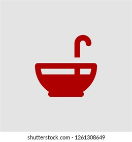 Title: Filled punch bowl super icon. Punch bowl vector illustration for graphic design. Punch bowl symbol.