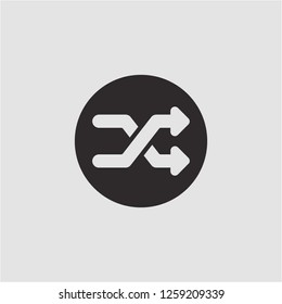 Title: Filled shuffle super icon. Shuffle vector illustration for graphic design. Shuffle symbol.