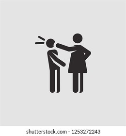 Title: Filled slap super icon. Slap vector illustration for graphic design. Slap symbol.