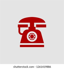 Title: Filled telephone super icon. Telephone vector illustration for graphic design. Telephone symbol.