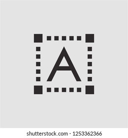 Title: Filled text editor super icon. Text editor vector illustration for graphic design. Text editor symbol.