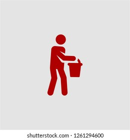 Title: Filled water carrier super icon. Water carrier vector illustration for graphic design. Water carrier symbol.