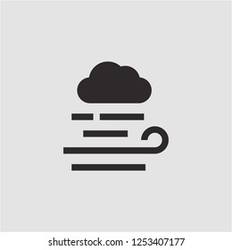 Title: Filled windy super icon. Windy vector illustration for graphic design. Windy symbol.