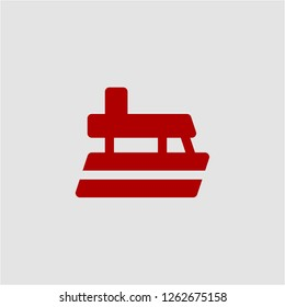 Title: Filled yatch super icon. Yatch vector illustration for graphic design. Yatch symbol.