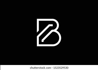 Title: Initial letter B minimalist art logo