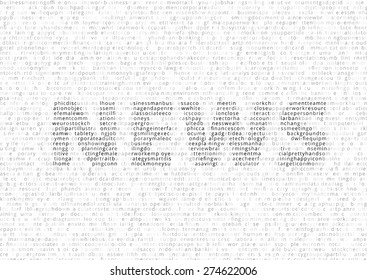 Title NEWS coded by many words code list, vector illustration