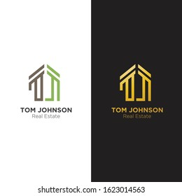 TJ Home Logo with simple style, good for your business.