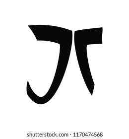tj letter vector logo. jt letter vector logo