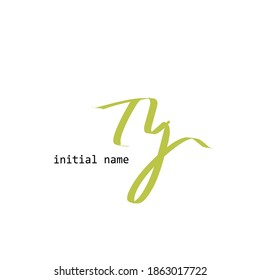 TJ T J Initial handwriting creative fashion elegant design logo template vector