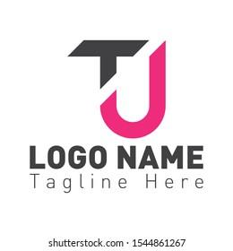 TJ or TU logo design template. TU letter logo