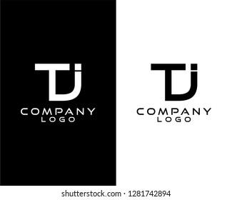 tj/jt initials company logo vector