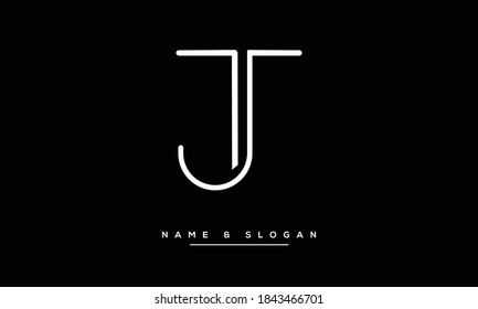 TJ,JT ,T ,J Abstract letters Logo monogram