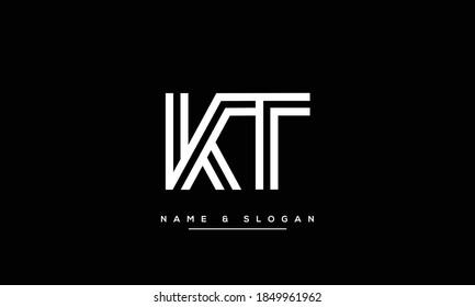 TK,KT ,T ,K  Abstract Letters Logo Monogram