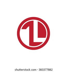 TL initial letters circle business logo red