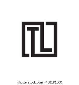 TL initial letters looping linked square monogram logo