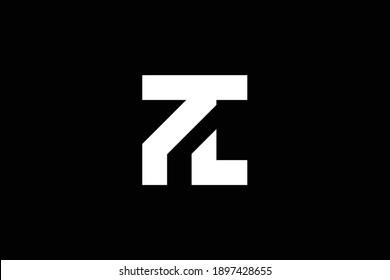 TL letter logo design on luxury background. LT monogram initials letter logo concept. TL icon design. LT elegant and Professional white color letter icon on black background.