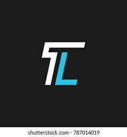TL letter logo design in vector format.