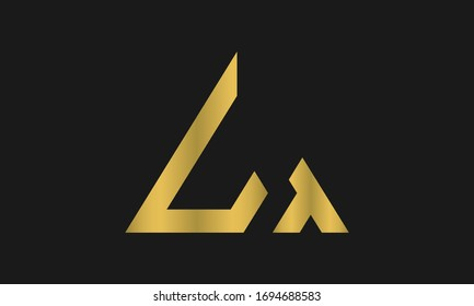 TL, LT Letter Logo Design with Creative Modern Trendy Typography and triangle logo.