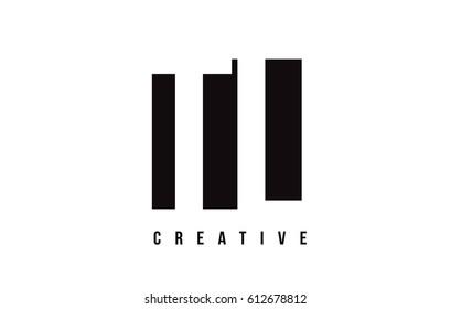 TL T L White Letter Logo Design with Black Square Vector Illustration Template.