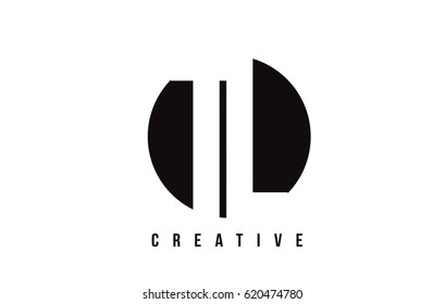 TL T L White Letter Logo Design with Circle Background Vector Illustration Template.